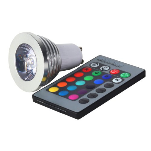 GU10 Multi-Color LED Light Bulb with Remote Control (GU10 RGB)