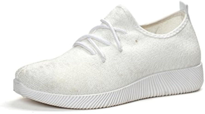 Qianliuk Frauen Laufen Sneakers Atmungsaktive Air Mesh Schuhe Leichte Sommer Flats Sneakers