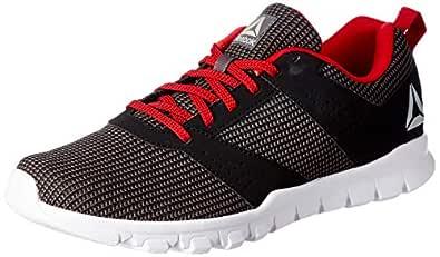 Reebok Men's Ash Grey/Black/Red Rush Shoes-6 UK/India (39 EU)(7 US) (Breeze Run Lp)