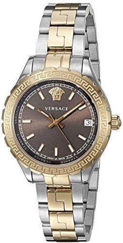 Versace Damen Analog Quarz Uhr mit Edelstahl Armband V12040015