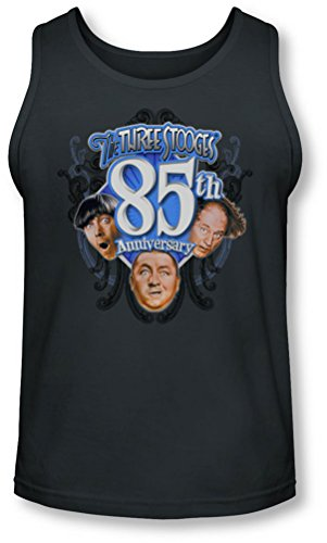 Three Stooges - - 85e anniversaire Tank-Top pour hommes, Medium, Charcoal