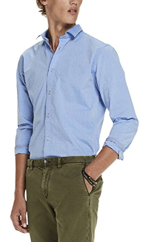 Scotch & Soda Herren Langarmshirts Long Sleeve Classic Shirt in Crispy Cotton Quality Mehrfarbig (Combo E 21)