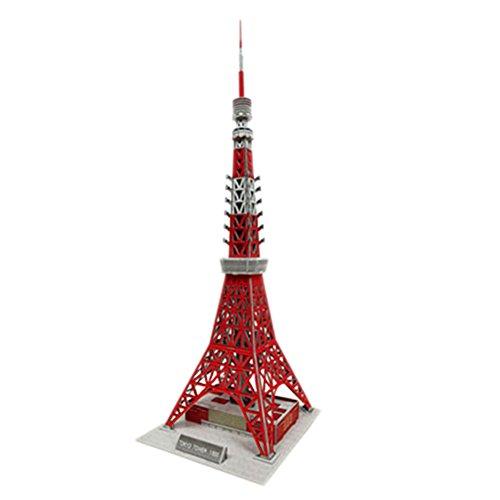 [Tokyo Tower] 3D-Puzzle Kinder Lustige Gebäudemodell Puzzle