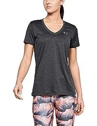 Under Armour Damen Tech SSV - Solid Atmungsaktives Laufshirt für Frauen, Kurzärmliges Trainingsshirt mit Loser Passform