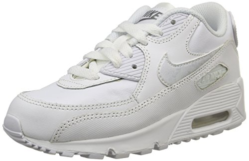 Nike Air Max 90 Ltr (Ps) Scarpe Sportive, Ragazzo White/White-Cool Grey