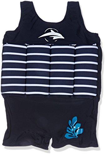 Konfidence - Costumeda bagno con galleggiante integrato Blu - Blu a righe