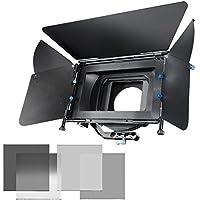 Walimex Matte Box Director II - Kit de parasol para objetivos y filtro gris, negro