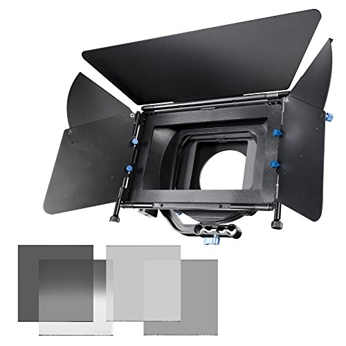 Walimex Pro Matte Box (Sonnenblende Director II Kit inkl. Graufilter-Set ND 8/4/2 und Verlaufsfilter) Matte Box Kit