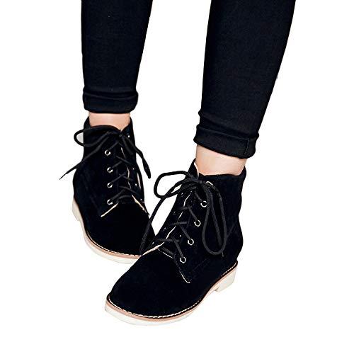 TianWlio Stiefel Frauen Herbst Winter Schuhe Stiefeletten Boots Flache Damen Stiefel Wedges Boots...