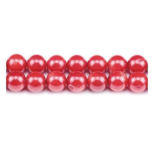 Charming Beads Strang 95+ Rot Koralle 4mm Rund Perlen GS1862-1 -