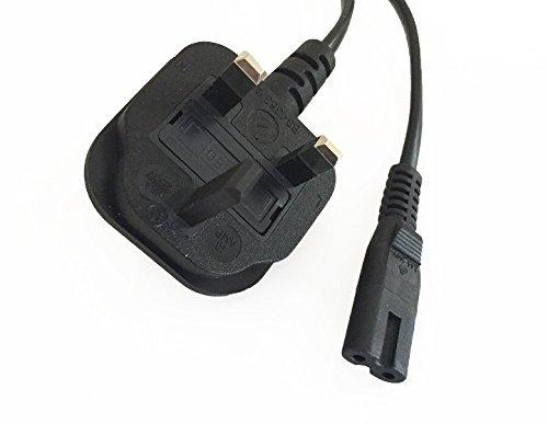 High Grade - UK Plug to Figure of 8 Eight Mains Power Cable Lead - C7 H05VV-F 0.75mm² 2G 13A - Length: 5M / 16.4 Ft - AAA Products®