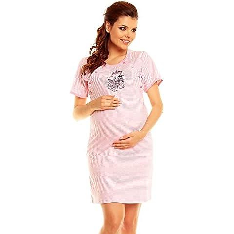 Zeta Ville Maternité - Nuisette à rayures grossesse allaitement - femme - 386c