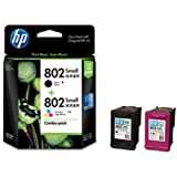 HP 802 Combo-pack Black & Tri-color Ink Cartridges (CR312AA)