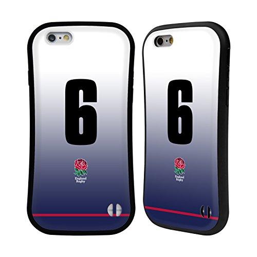 Ufficiale England Rugby Union Posizione 7 2017/18 Kit In Casa Case Ibrida per Apple iPhone 6 Plus / 6s Plus Posizione 6