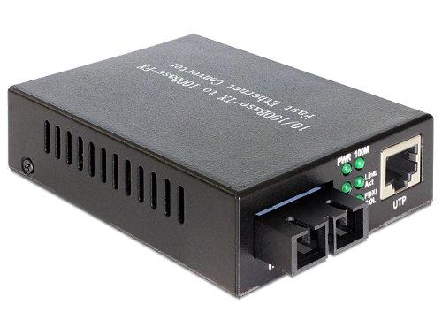 DeLock Medien Konverter, 100Base-FX SC SM 1310 nm, 20 km