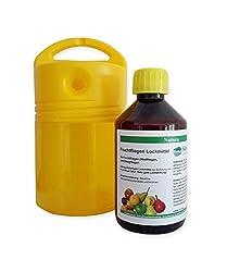 EKS Fruchtfliegen Set: 300ml Fruchtfliegenlockstoff + Fruchtfliegenfalle für Fruchtfliegen, Obstfliegen, Essigfliegen.