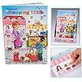 Create your Shopping Tour Malbuch Sticker Läden Geschäfte von Unbekannt