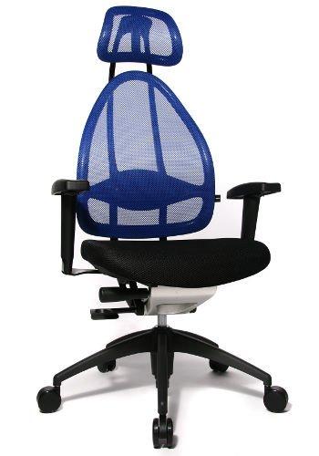 B24Open Art Edition Captain's Office Chair Mesh Blue/Black