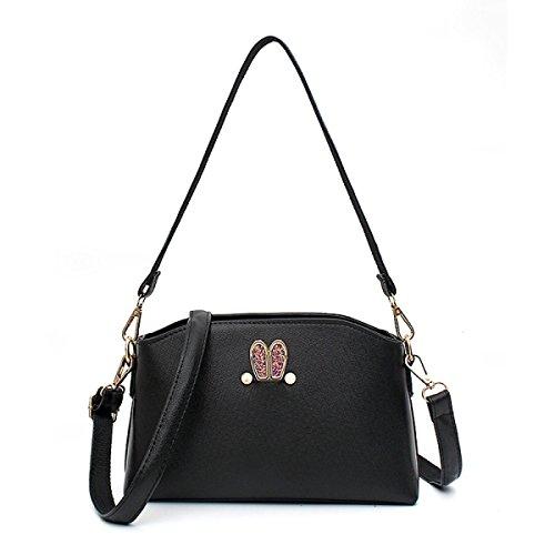 Female Messenger Bag Nette Kleine Frische Schalentiere Tasche Umhängetasche Paket Kleines Paket Black