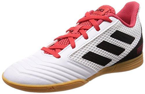 Adidas Predator Tango 18.4 J, Zapatillas de Fútbol Sala Unisex Niño, Blanco (Ftwbla/Negbas/Correa 000), 36 EU