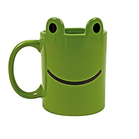 Gift Republic Animal Frog Mug, Ceramic, Multi-Colour