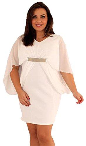 Damen plus Größe Kimono Chiffon Sleeve Gold Strap Gürtel figurbetont ...