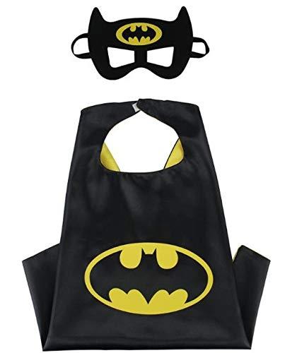 HOUSE CLOUD Kostüm Superhelden für Kinder - Geschenke von Compleanno - Karneval Kostüme - 1 Umhang - Logo von Batman - Spielzeug für Kinder und Kinder