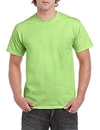 Gildan T-shirt en coton épais -  Vert - petit