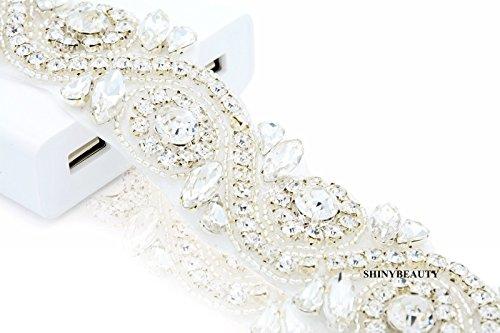Shinybeauty wedding sash diamante cristallo strass applique, abito da sposa strass di cristallo e cinture diy romantic wedding veil beltt ra245