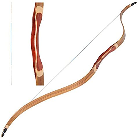 toparchery 40lbs Traditional Recurve Bow Archery Hunting Practice One Piece Longbow...