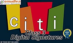 CITI CLASS 3 DIGITAL SIGNATURE 3 YEARS VALIDITY NO TOKEN AND SUPPORT INCLUDED