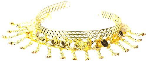 Schmuck Kostüm Bauchtanz Und - Bauchtanz Schmuck Haarschmuck Haarnadel Haarklammer Zubehör ZIGEUNERIN Karneval Fasching Zigeuner Roma Kostüm mit Münzen Silber / Gold (Gold)