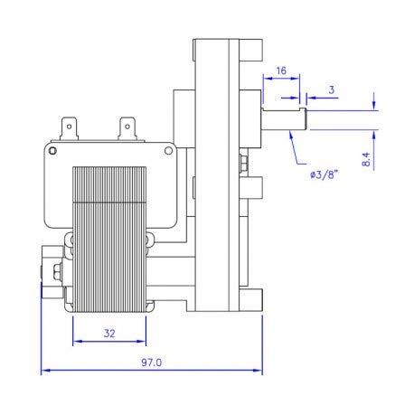Zoom IMG-1 14702013 motoriduttore stufa pellet 25