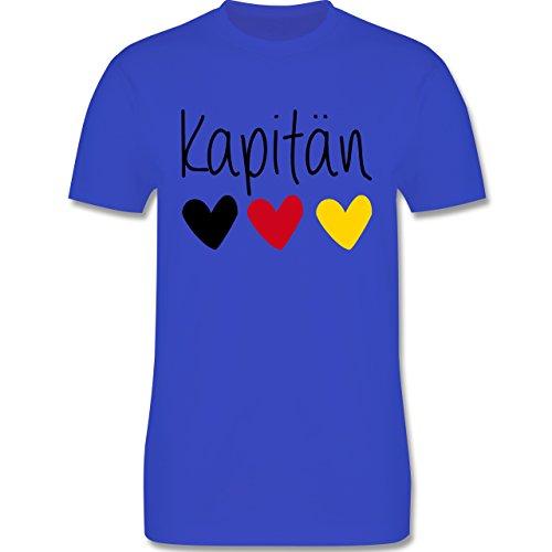 EM 2016 - Frankreich - Kapitän - Herren Premium T-Shirt Royalblau