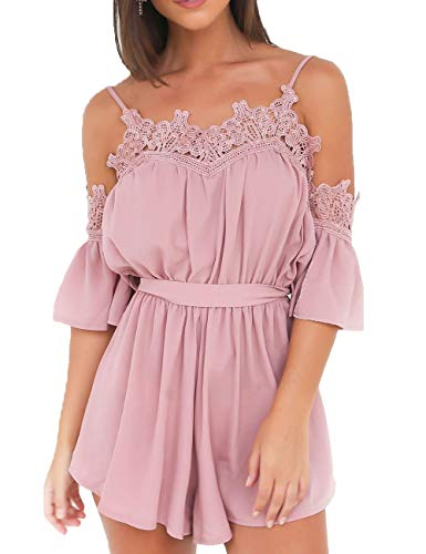 Turnglam Damen Jumpsuit Sommerkleid Playsuit Strandkleid TG200