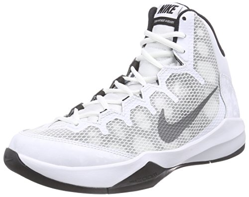 Nike Zoom Without A Doubt, Scarpe sportive, Uomo, Multicolore (White/Rflct Silver-Blk-Cl Gry), 42.5