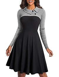 Aleumdr Mujer Falda Plisada Vestido Elegante Falda Básica de Invierno Size S-XXL