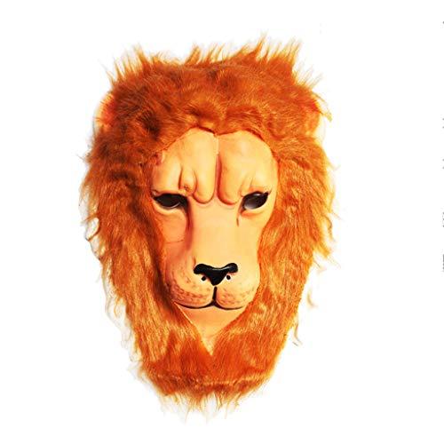 Kopfbedeckung Löwe Kostüm - Eva Kuscheltier Maske, Halloween Kostüm Party AFFE Löwe Kopfbedeckung Erwachsene und Kinder (Löwe 28 * 36CM)