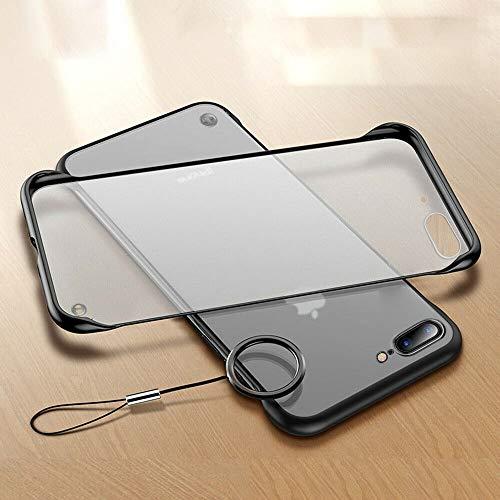 LCHULLE Kompatibel mit iPhone 7 Hülle, iPhone 8 Handyhülle Keine Grenzen Hülle mit Ring Bare Maschinengefühl Schutzhülle Bumper Ultradünn Handytasche leicht Handyschutz Schwarz -