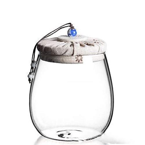 FFDGHB Transparente Glasteedosen VorratsbehäLter Mit Korkbezug Geeignet Zur Aufbewahrung Von Tee, GewüRzen, NüSsen 1000Ml