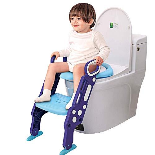 Gblife scala da toilette per bambini pieghevole morbida e confortevole igienici scala in bagno bambini igienici sgabello