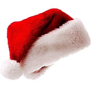 Meiwash Papá Noel Sombrero de Navidad Sombrero de Navidad de Lujo Sombrero de Felpa Niño Adulto Sombrero Navidad Fiesta Familiar Suministros