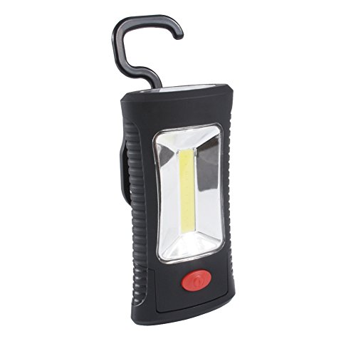 LED Arbeitsleuchte Taschenlampe Zuoao Superhelle COB LED Inspektionsleuchten Werkstattlampe Batteriebetriebene mit Ständer Anpassung Haken und Magnet Basis für Garage,DIY