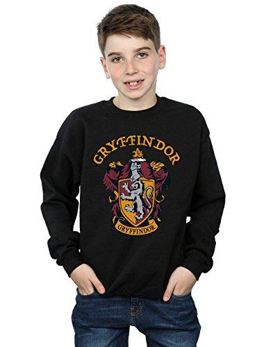 Harry Potter Jungen Gryffindor Crest Sweatshirt Schwarz 7-8 Years Crest Pullover Sweatshirts