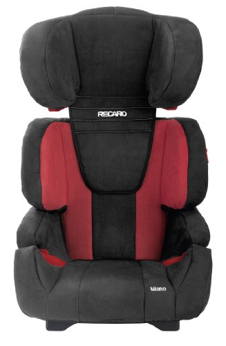 RECARO 6207.20903.66  - Milano - Autokindersitz Gruppe II - III (15 - 36 kg), von ca. 3 bis 12 Jahren, Farbe Bellini punched Cherry/Black