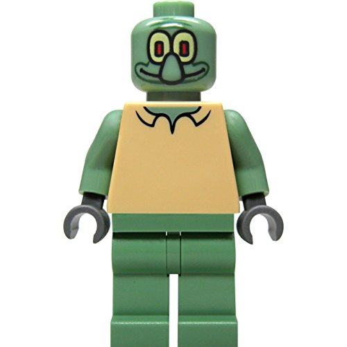 LEGO SPONGEBOB - sehr seltene Minifigur Squidward THADDÄUS aus Sponge Bob Set 3827 - Bikini Bottom - Neuware ohne Original-Verpackung (Spongebob Thaddäus)