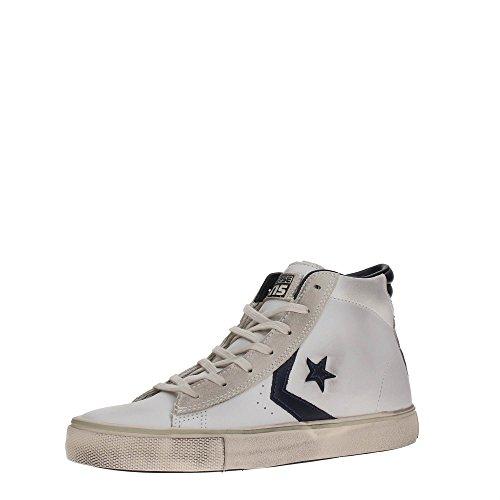 Converse Pro Lthr Vulc Mid, Sneakers Homme Blanc (White/black/turtledove)