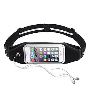 Mpow Handy Lauftasche, Sport Lauftasche Wasserdichte Sport Hüfttasche mit reflektierenden Streifen für iPhone 7/6 /6S /SE /5S /5 usw bis zu 6 Zoll