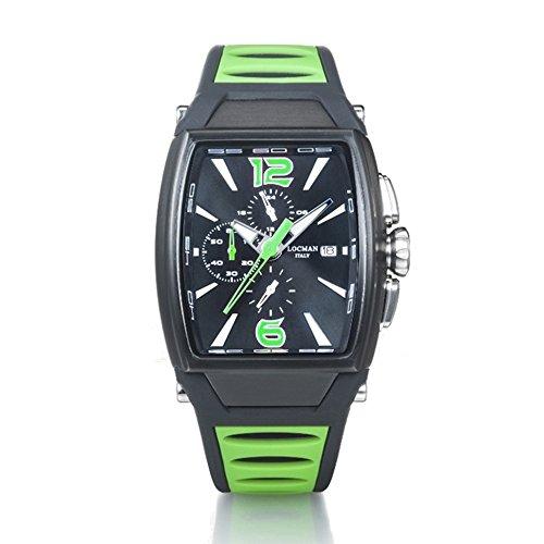 Montre chronographe Homme Trois mille vert en acier et titane Locman