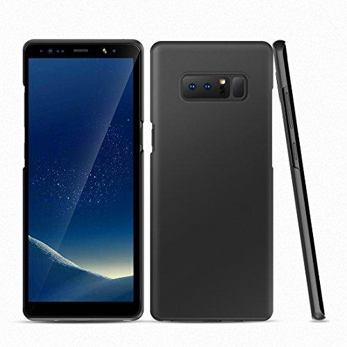 Humixx Hülle für Samsung Galaxy Note 8, Hochwertigem Extra Dünn Handyhülle Stoßfest, Anti-Fingerprint, Anti-Scratch Hardcase für Samsung Galaxy Note 8 (Skin-Serie) - Schwarz